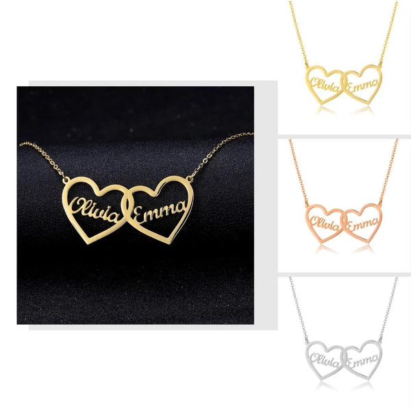 Femi Two Hearts Necklaces