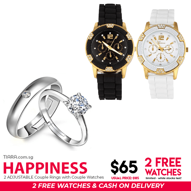 Happiness Couple Ring & Watch Set