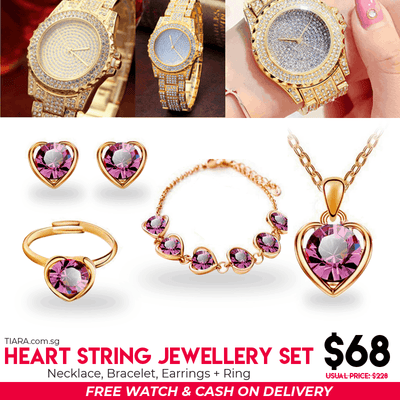 HeartString Jewelry sets - Tiara.com.sg Singapore Jewelry Shop
