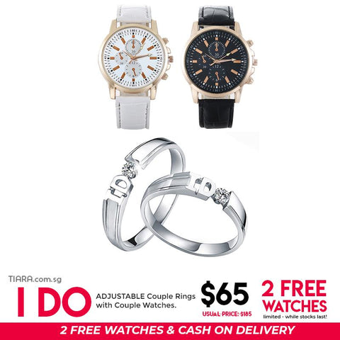 I Do Couple Ring & Watch Set