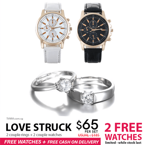 Love Struck Couple Ring & Watch Set