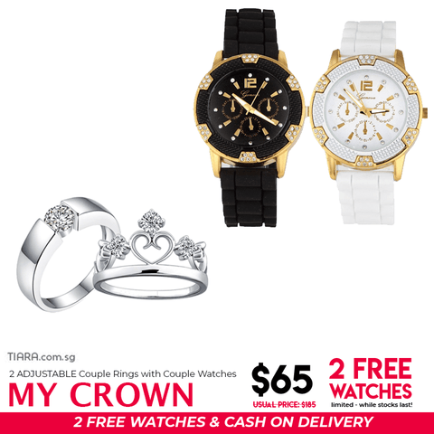 My Crown Couple Ring & Watch Set