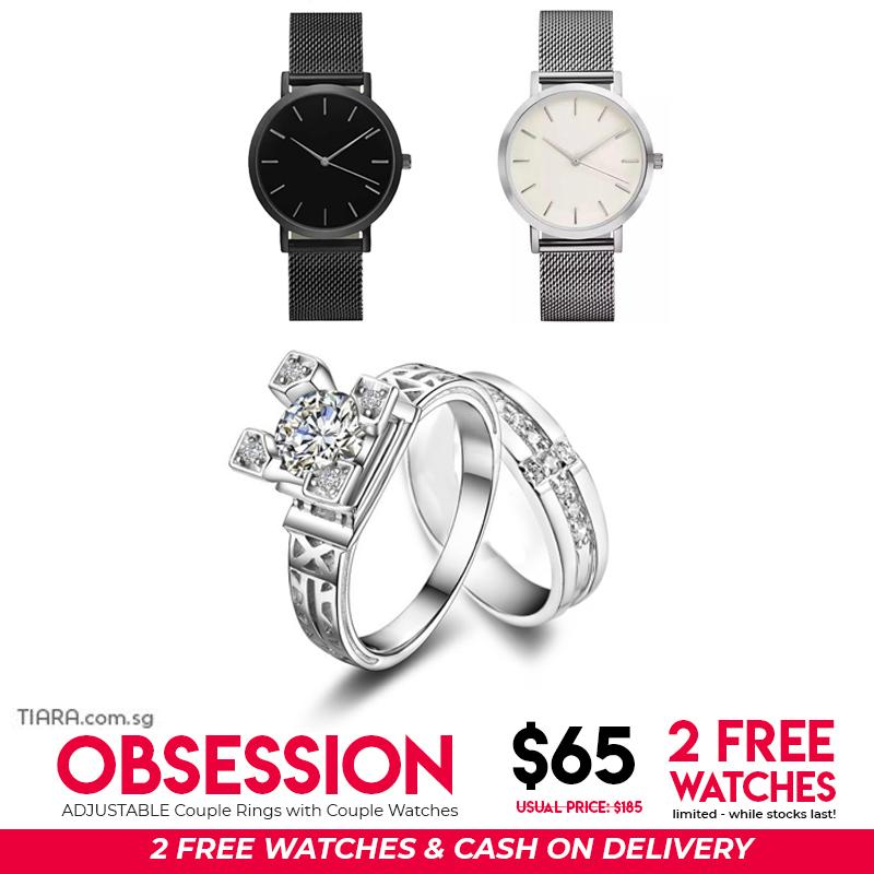 Obsession Couple Rings & Watch Set