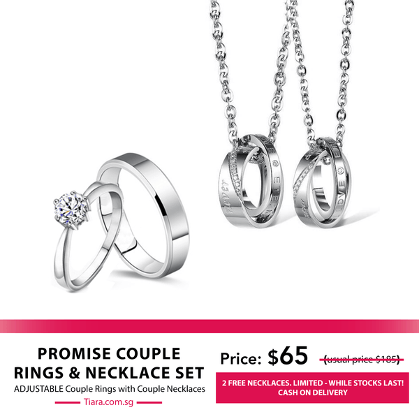 Promise Couple Rings & Necklaces Set