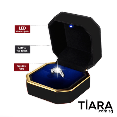 Adjustable Ring with Lighted Ring Box Adjustable Ring - Tiara.com.sg Singapore Jewelry