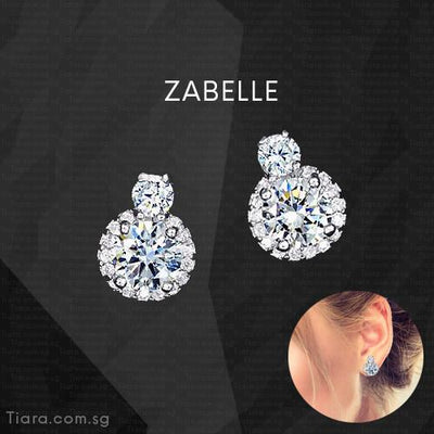 Zabelle Earrings - Tiara.com.sg Singapore Jewelry Shop
