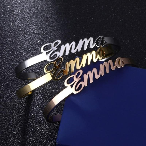 High Polished Name Bangle