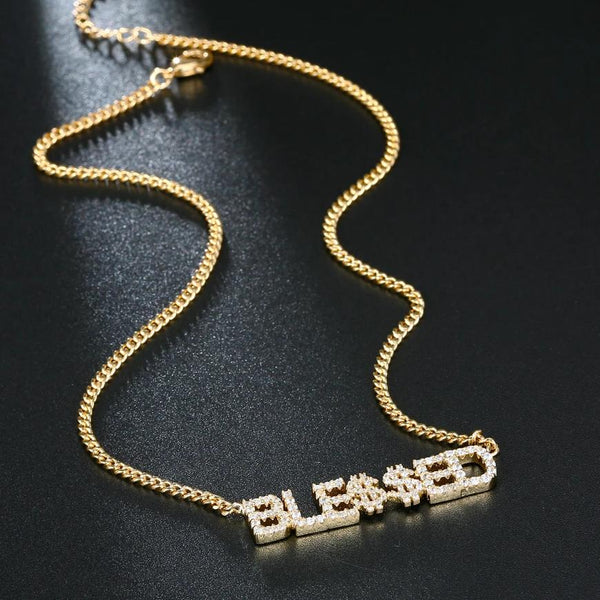 Full Zircon Personalized Name Necklace