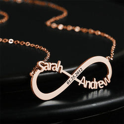Belle Personalized Infinity Necklace