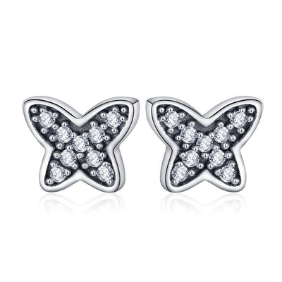 SSER8853 - Butterfly Earrings - Tiara.com.sg Singapore Jewelry Shop