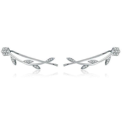 SSER8865 - Winter Petals Earrings - Tiara.com.sg Singapore Jewelry Shop