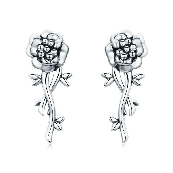 SSER8864 - Silver Pomegranate Flower