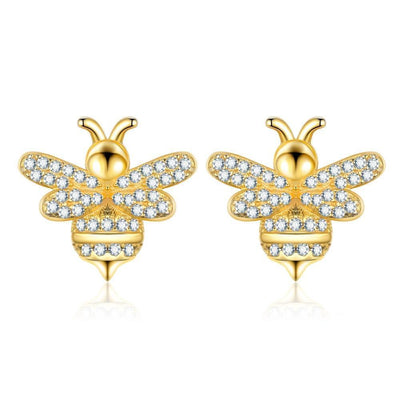 SSER8848 - Bee (EXPRESS) Earrings - Tiara.com.sg Singapore Jewelry Shop