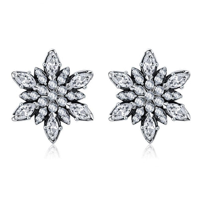 SSER8872 - Snowflower Earrings - Tiara.com.sg Singapore Jewelry Shop