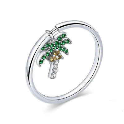Coconut Tree Ring - Tiara.com.sg Singapore Jewelry Shop