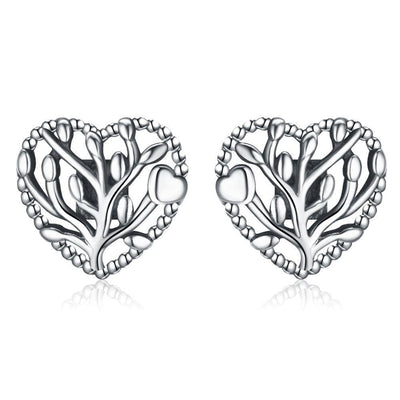SSER8823 - Flourishing Hearts Earrings - Tiara.com.sg Singapore Jewelry Shop