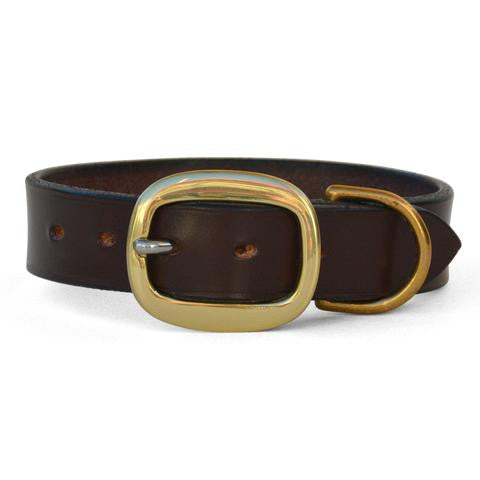 Plain Leather Dog Collar with Swage Buckle NUT