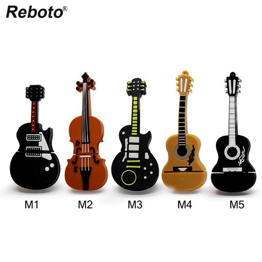 Musical instrument pen drive violin usb flash drive pendrive 16gb  cartoon guitar(Import) - Virtual2Buy