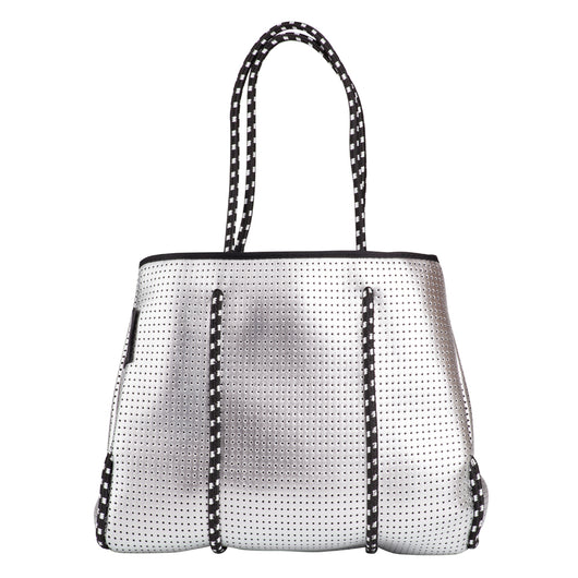 Neoprene Tote Bag - Neo the Label - Metallic Silver