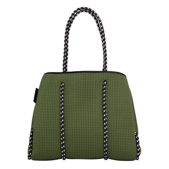 Neoprene Tote Bag - Neo the Label - Khaki Green