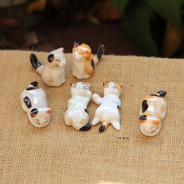 Porcelain Cat Figurines - gogetithub
