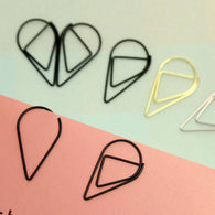 Water Drop Paper Clips - gogetithub