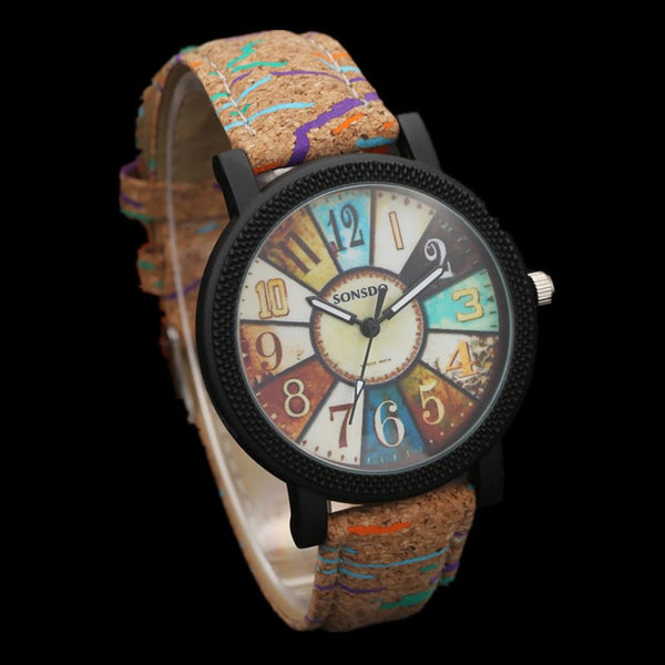 Leather Strap Unisex Watch - gogetithub