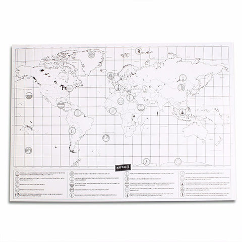 New Deluxe Travel Edition Scratch Off World Map Poster