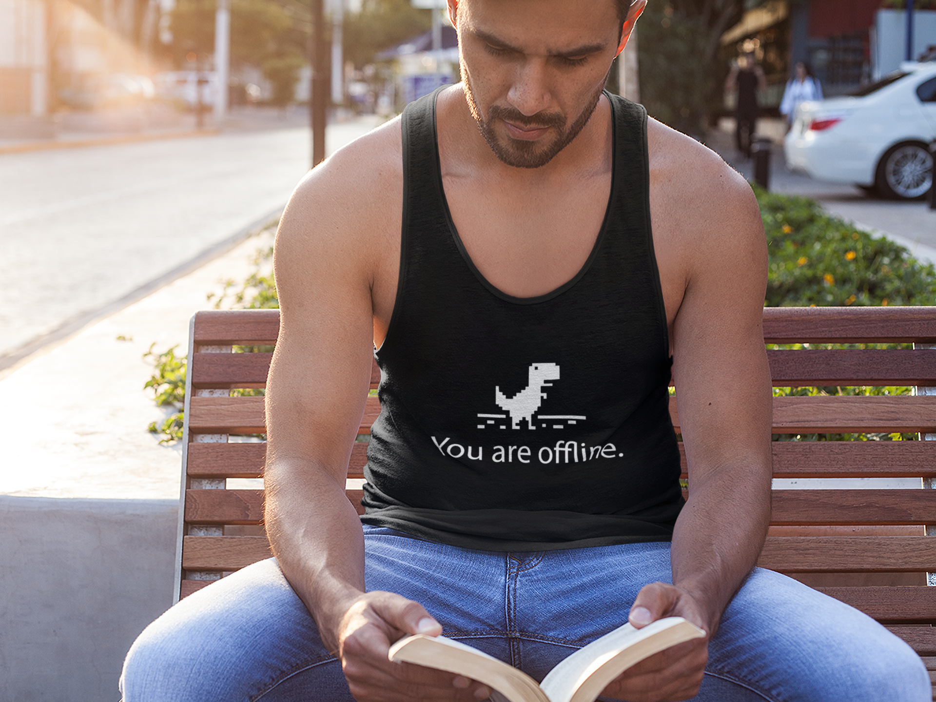 You are offline tank top