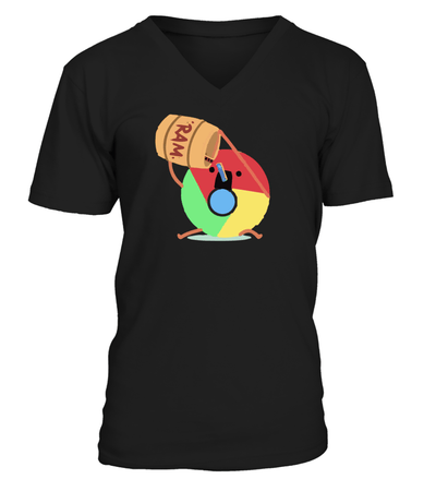 Chrome Cartoon T-shirt - Cool Gift for Programmer