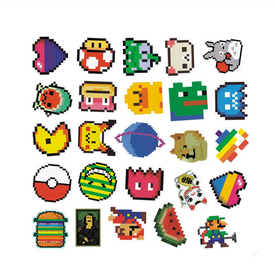 25Pcs/Pack Pac-Man Pixel Sticker [Set 3]