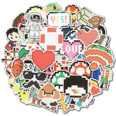 50Pcs/Pack Pixel Stickers Retro Game [Set 2]