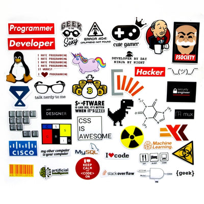 40 PCS Programmer Funny  Stickers