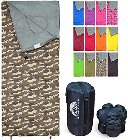 REVALCAMP Sleeping Bag Indoor & Outdoor Use. Great for Kids, Boys, Girls, Teens & Adults. Ultralight and Compact Bags are Perfect for Hiking, Backpacking & Camping -  Navy Seal Style