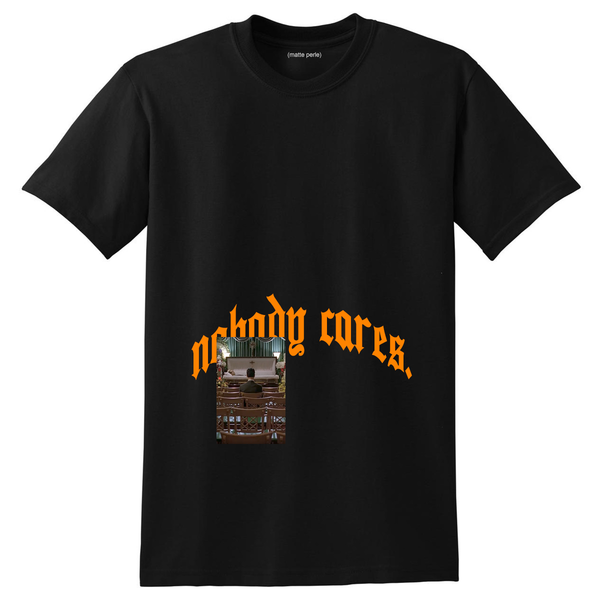NOBODY CARES TEE BLACK