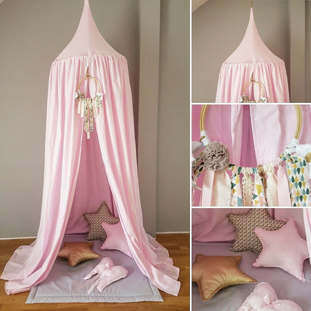Hanging Cocoon Swing Powder Pink With Frill