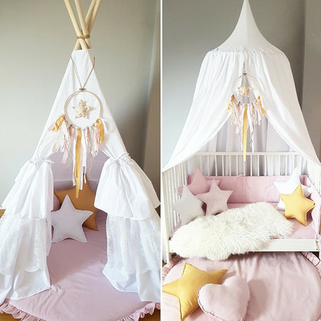 Child's Teepee Pink and Grey Ombre Set