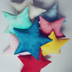 Star Pillow Cushion Velvet-cushion-BabyUniqueCorn