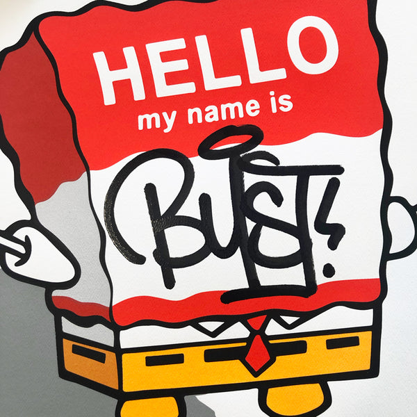 BUST - Hello My Name Is Bust - RED VARIANT