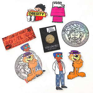 CHRIS CUNNINGHAM - PIN & STICKER PACK - SET OF 6