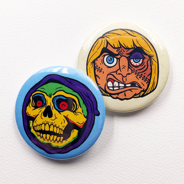 VomPop Buttons - Skeletor and He-Man