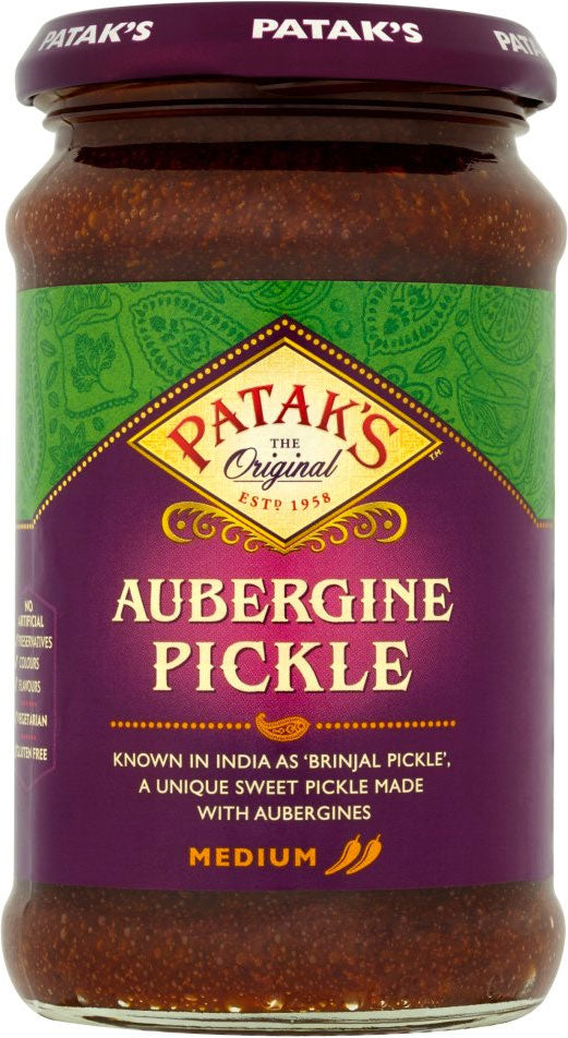 Patak's Brinjal Aubergine Pickle Medium (283g)