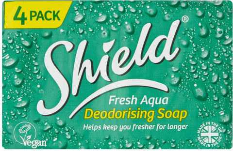 Shield Fresh Aqua Deodorising Soap 4 Pack