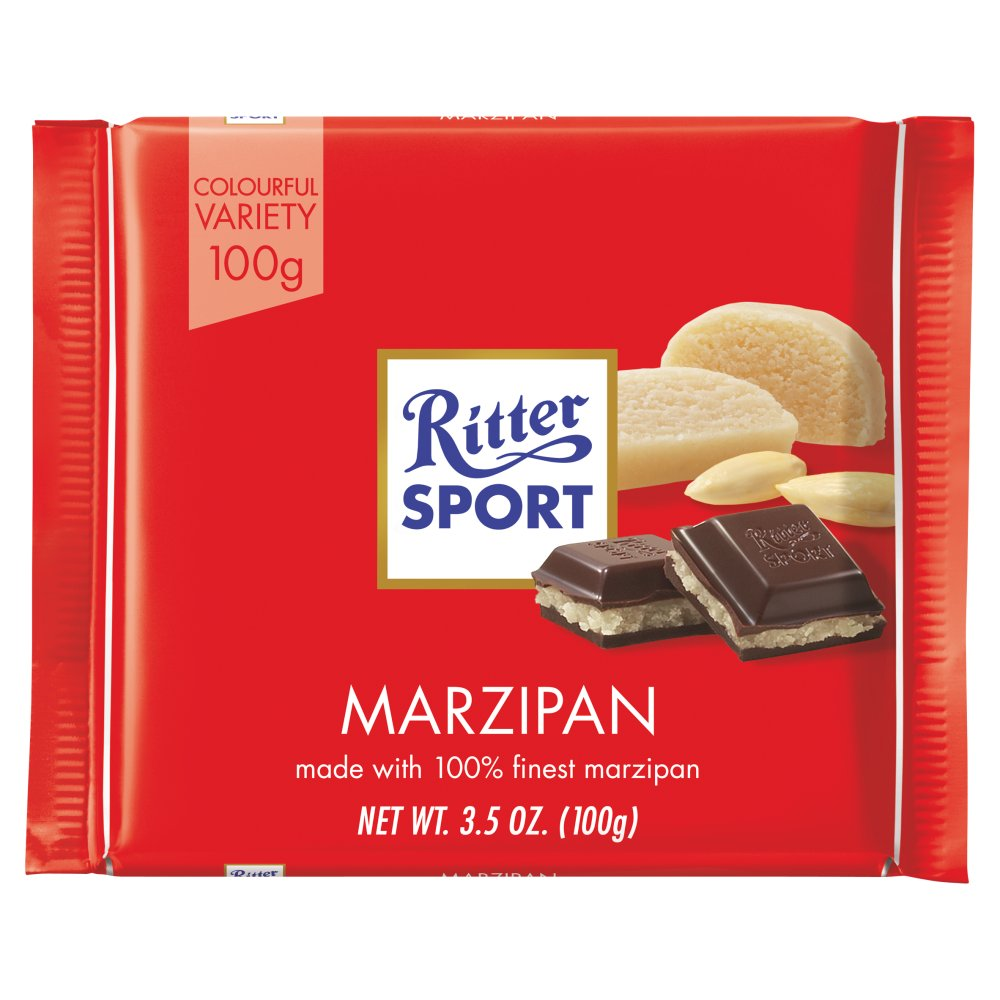 Ritter Sport Dark Chocolate with Marzipan 3.5 oz each (1 Item Per Order)