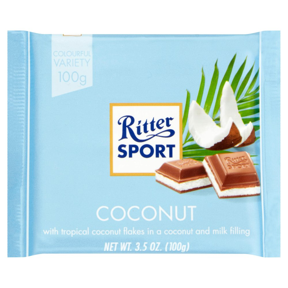 Ritter Sport Milk Chocolate with Coconut, 100g
