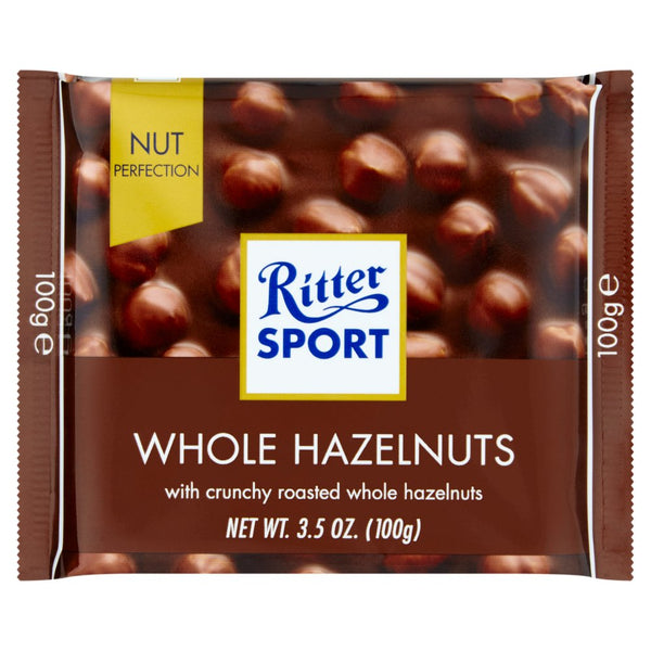 Ritter Sport Milk Chocolate with Whole Hazelnuts 3.5 oz each (3 Items Per Order)