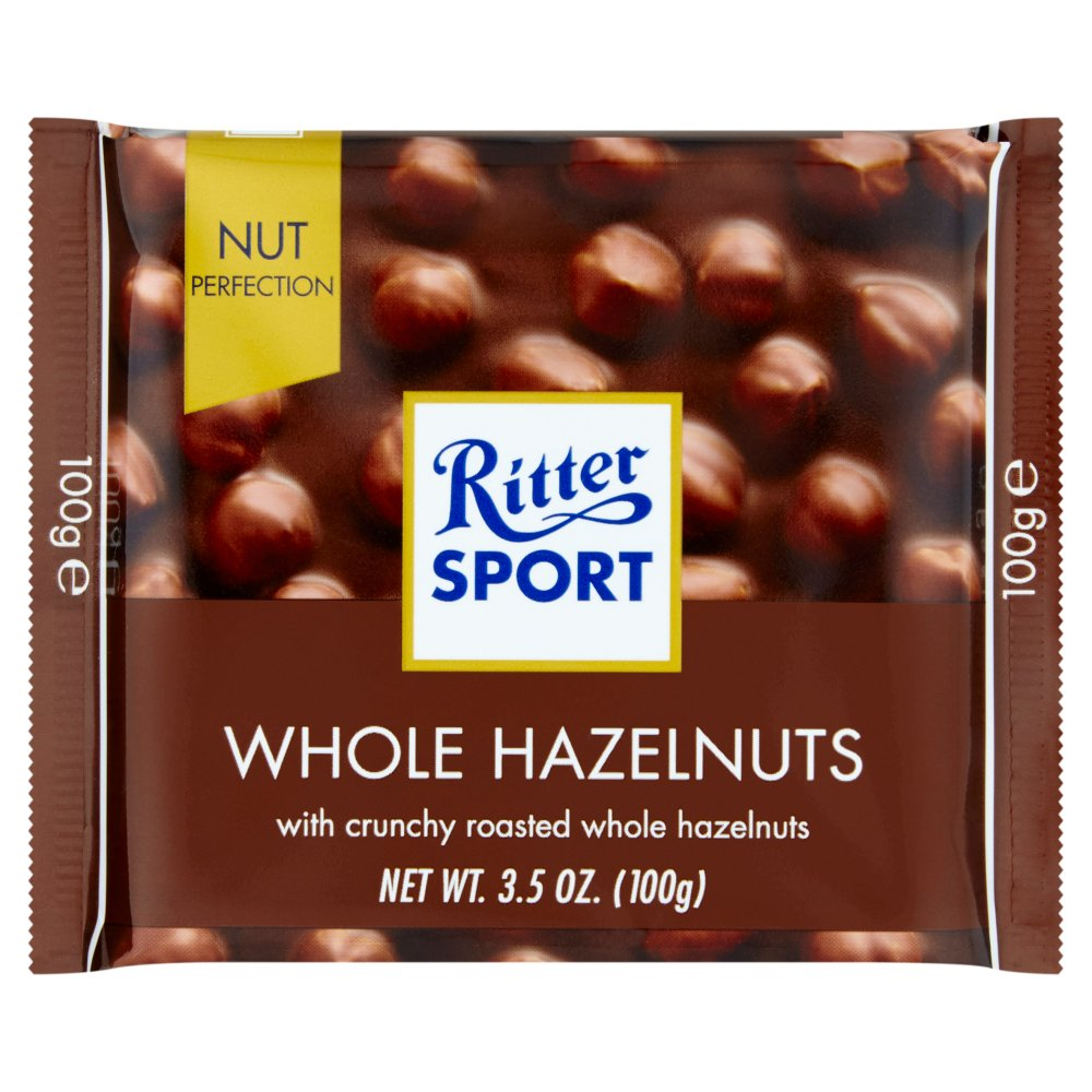 Ritter Sport Milk Chocolate with Whole Hazelnuts -- 3.5 oz by Ritter Sport