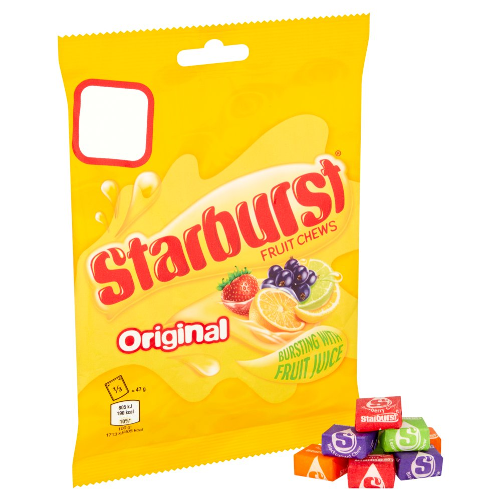 Starburst Original Fruity Chews Pouch Pack of 4
