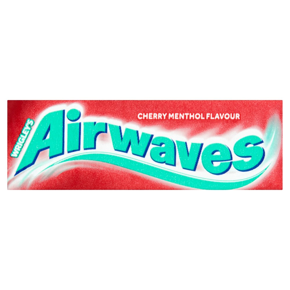 Wrigley's Airwaves Cherry Menthol Flavour Sugarfree Chewing Gum 30 x 15g (Bulk Buy)