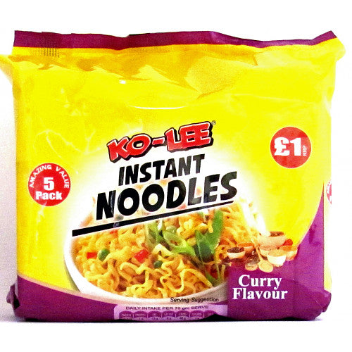 Ko-Lee Packet Noodle Curry Flavour 5pack